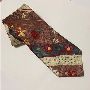 Nautical silk tie